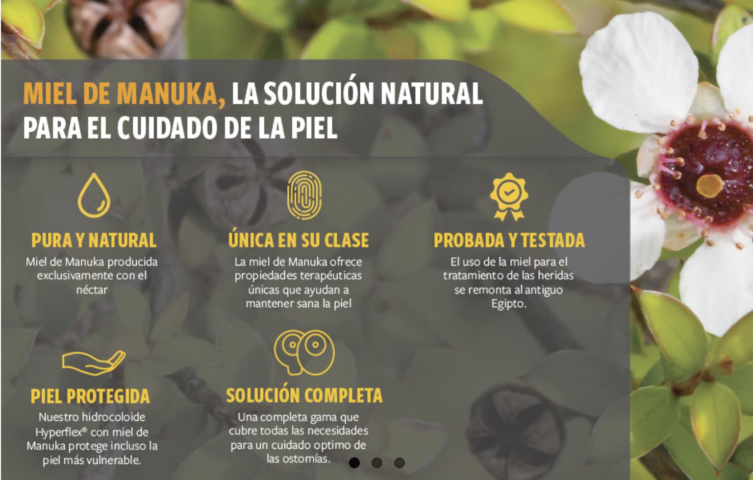 La solución natural para el cuidado de la piel periestomal